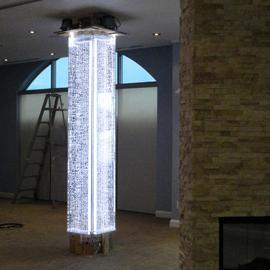 Grand format murs d 39 eau et de bulles - Colonne d eau lumineuse ...